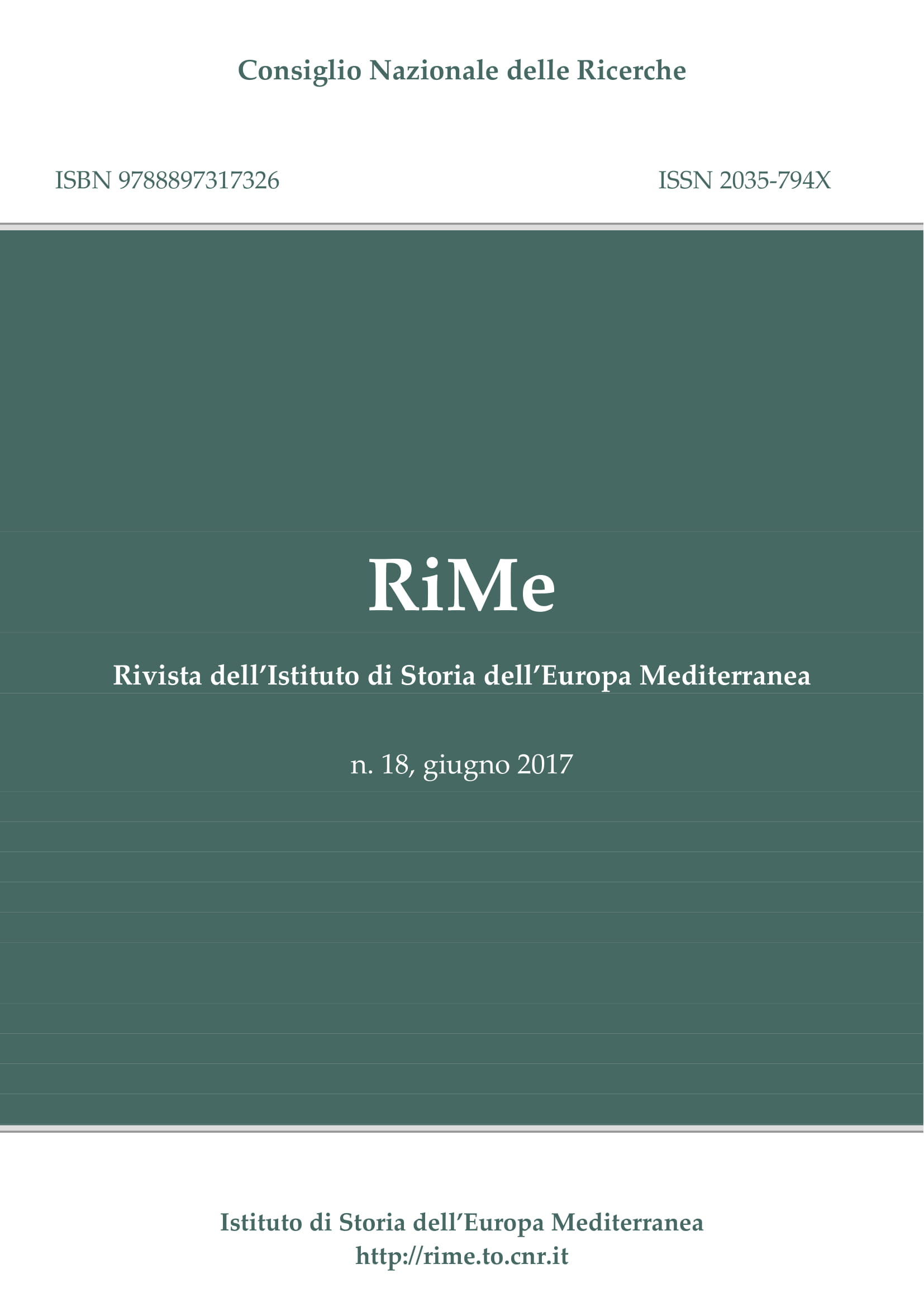 Vol. 18 (June 2017) cover