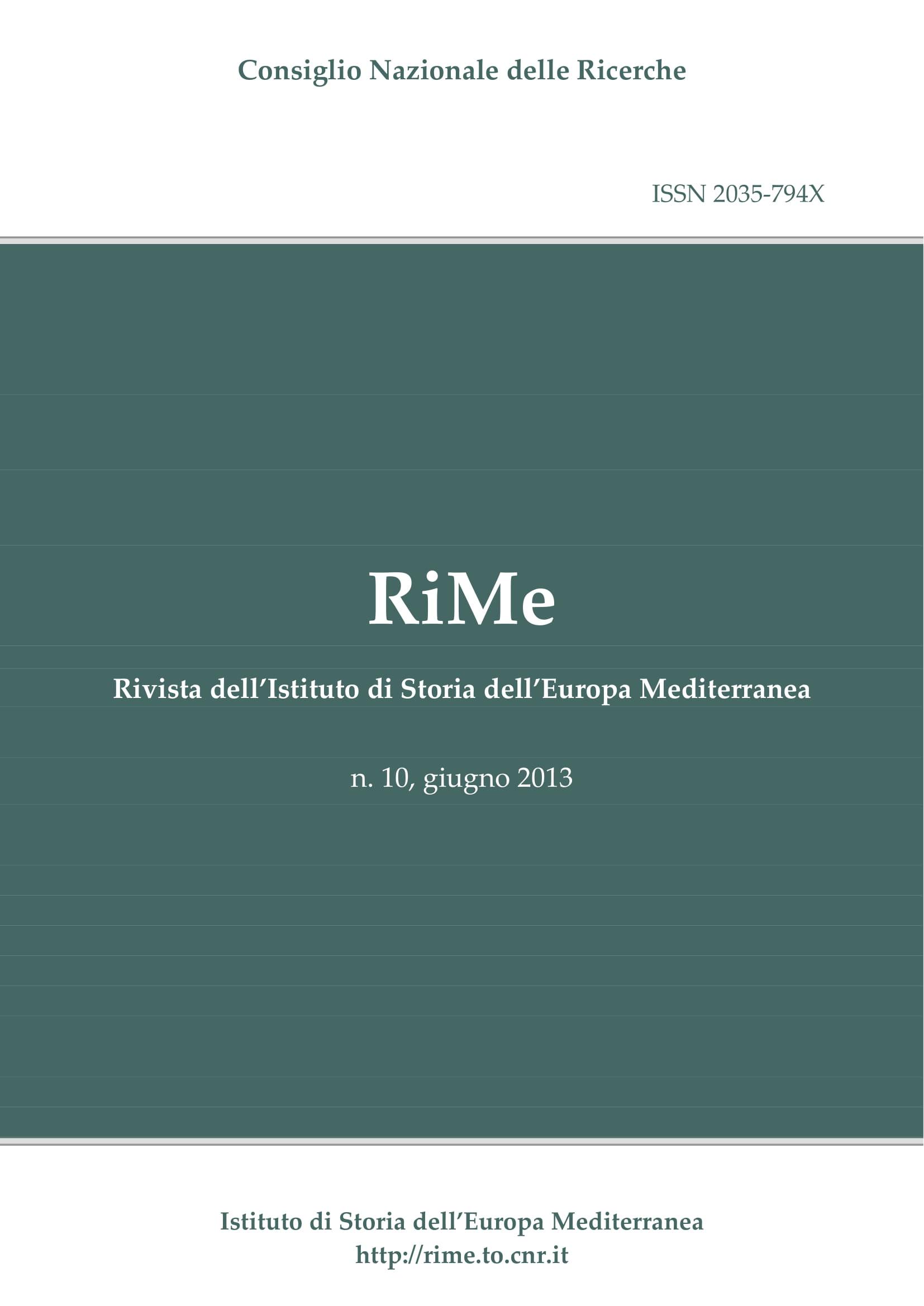Vol. 10 (June 2013) cover