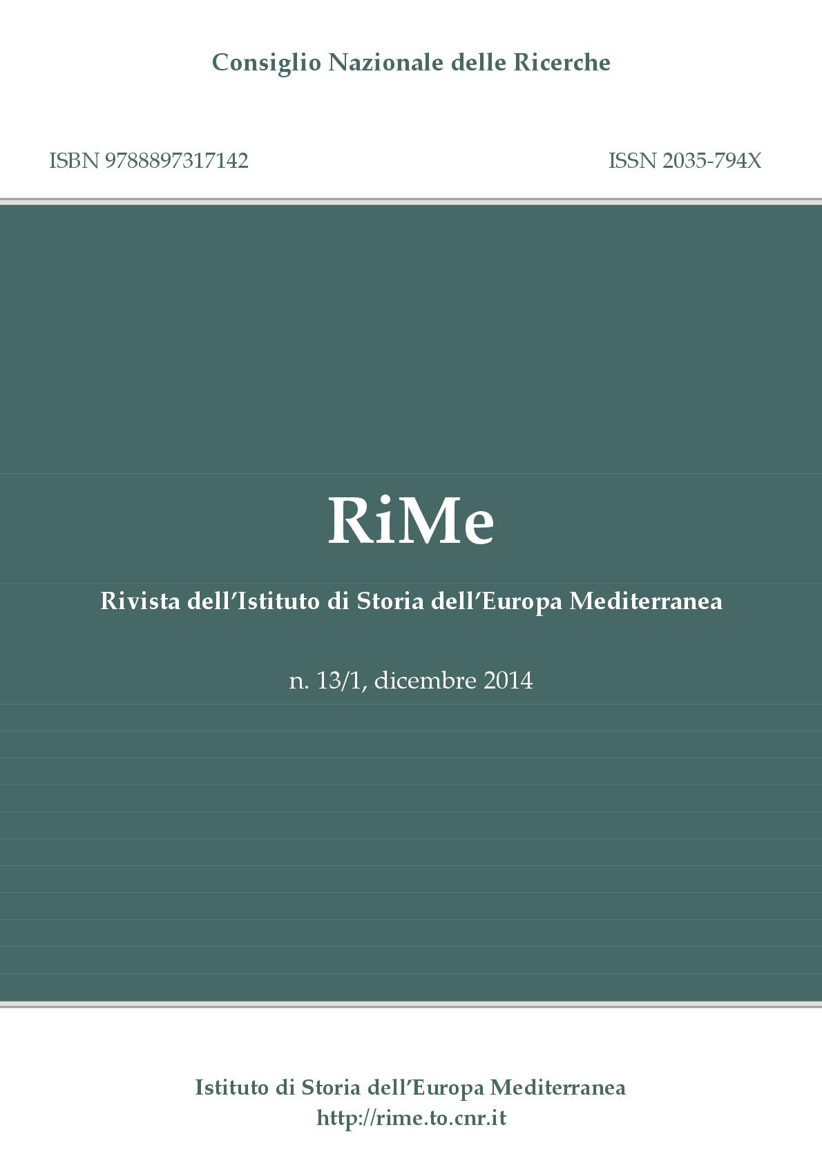 Vol. 13/1 (December 2014) Cover