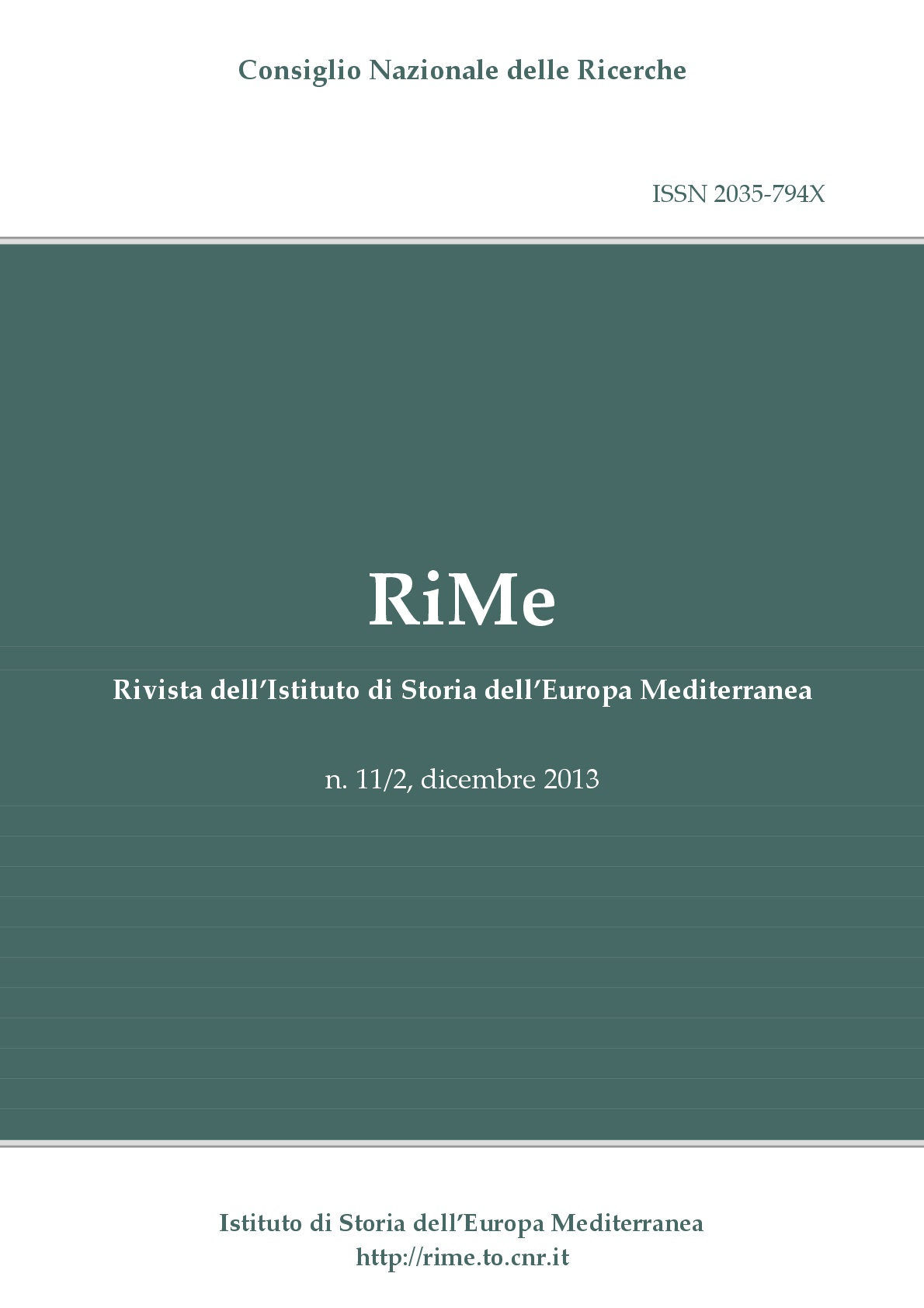 Vol. 11/2 (December 2013) cover