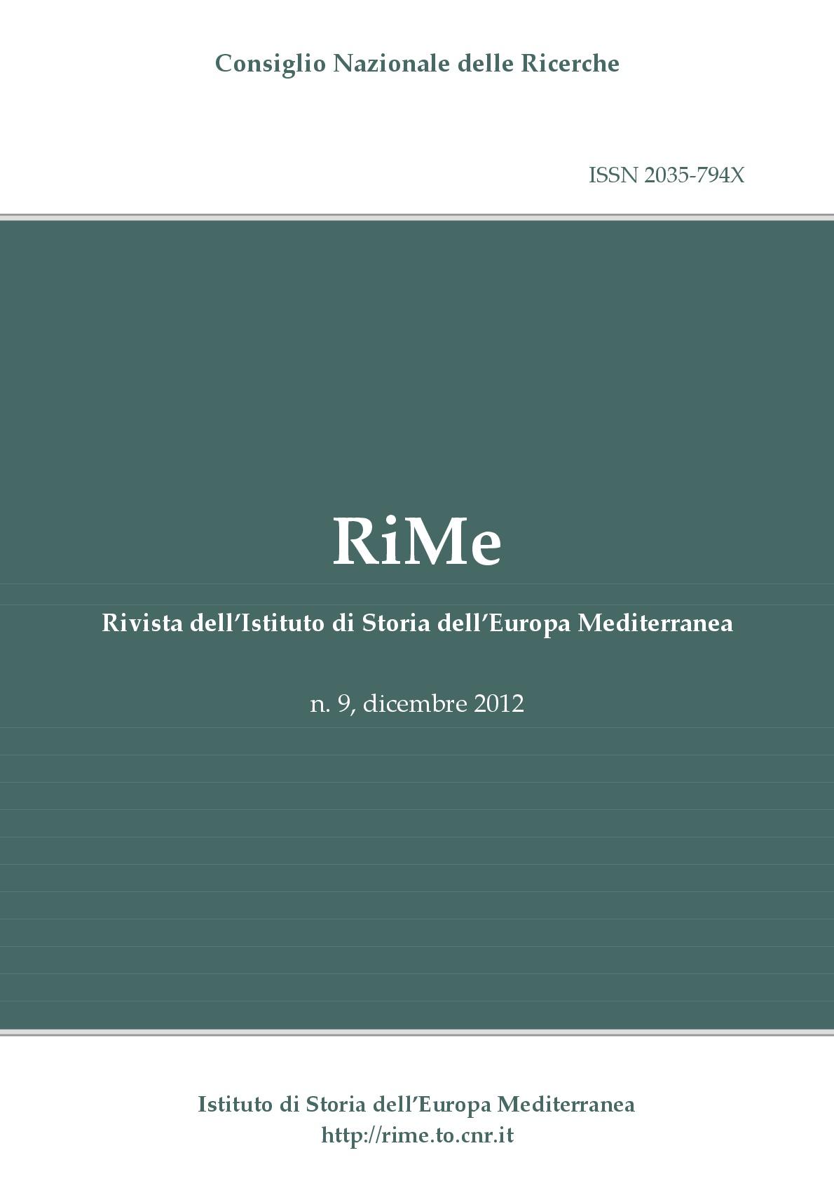 Vol. 9 (December 2012) cover